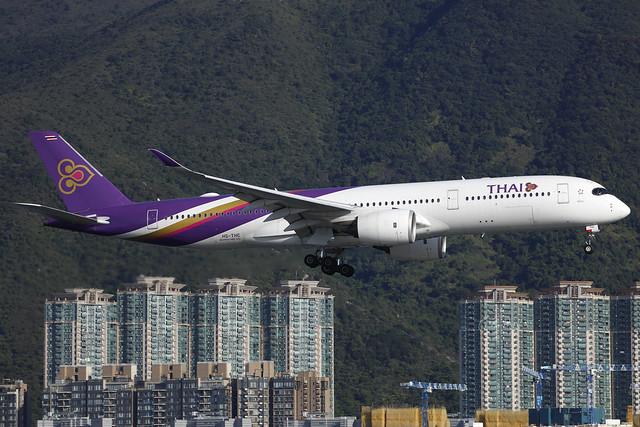 HS-THC, Airbus A350-900, Thai Air, Hong Kong