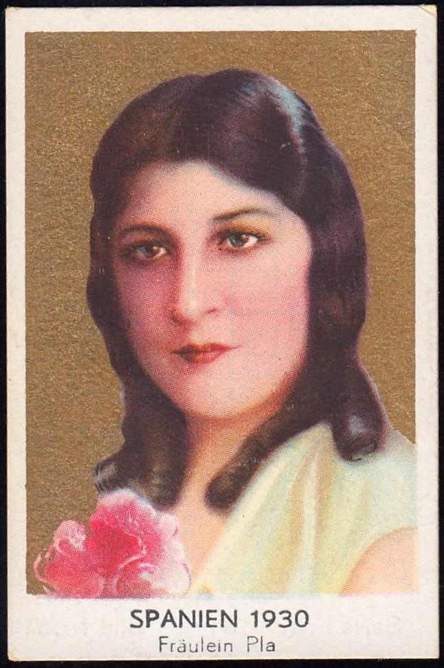 German Cigarette Card - Miss Spain 1930