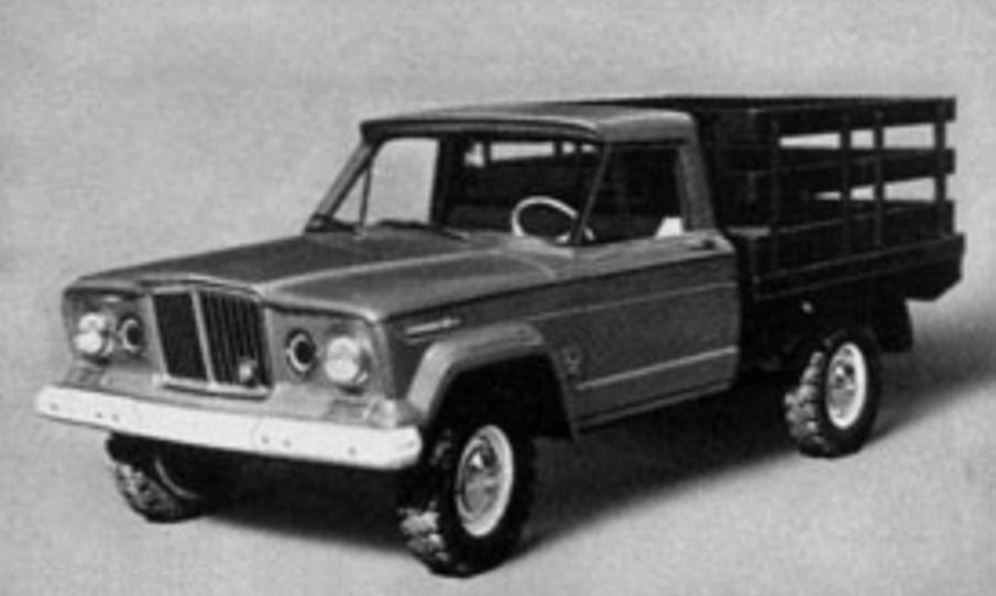 1965 Jeep J-Series Platform Stake Truck, February 1965 Kaiser Jeep Corp. press photo