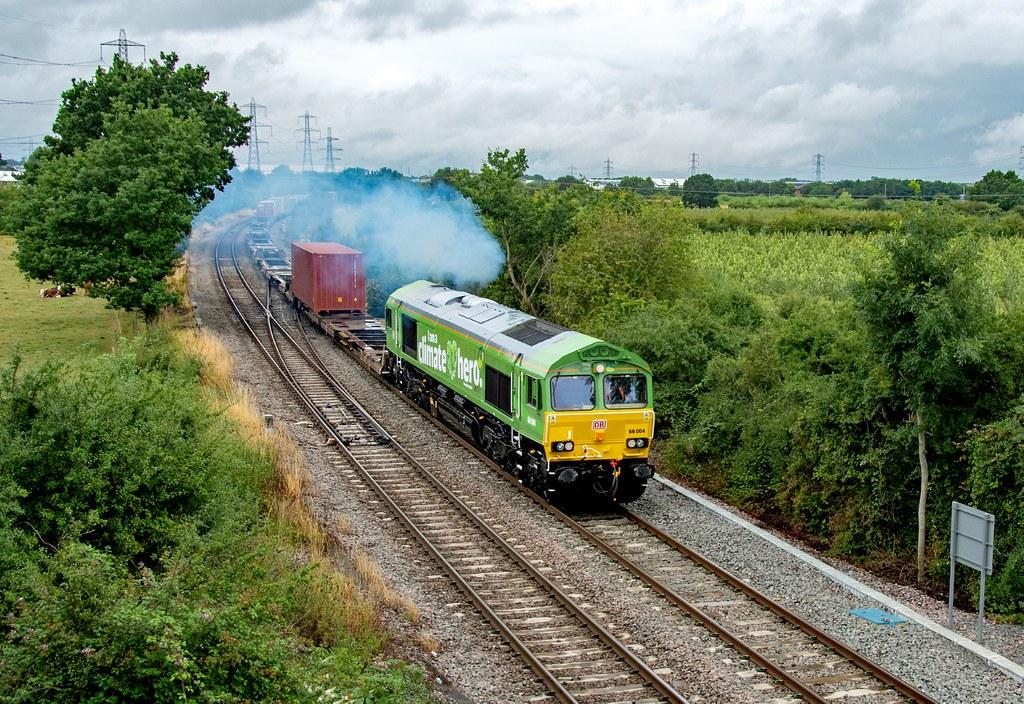 66004 4L38 East Midlands Gateway - Felixstowe. Departs Castle Donnington. 30.07.21