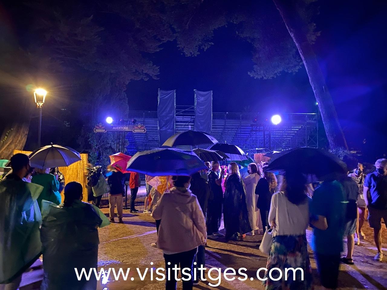 Concierto de Rosario cancelado por la lluvia