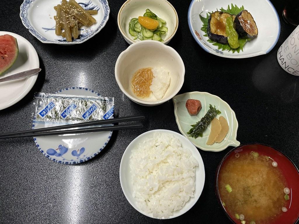 vege breakfast from Shukubo Kanbayashi Katsukane in Mt Haguro