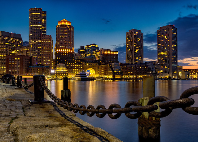 Boston at Blue Hour