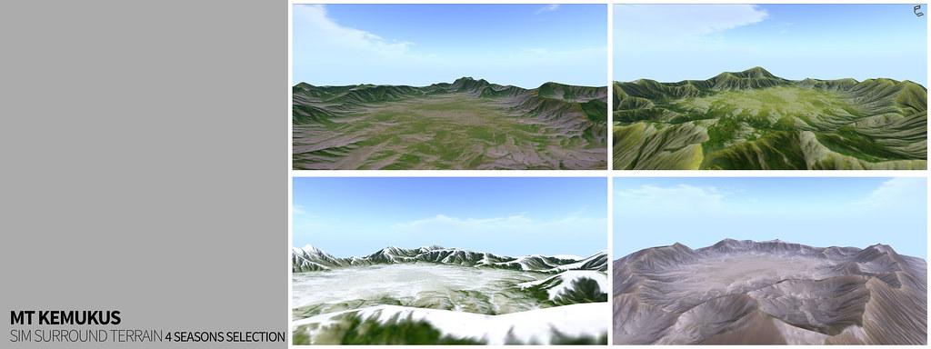 Mt Kemukus – sim surround terrain rezzer with 4 seasons selection