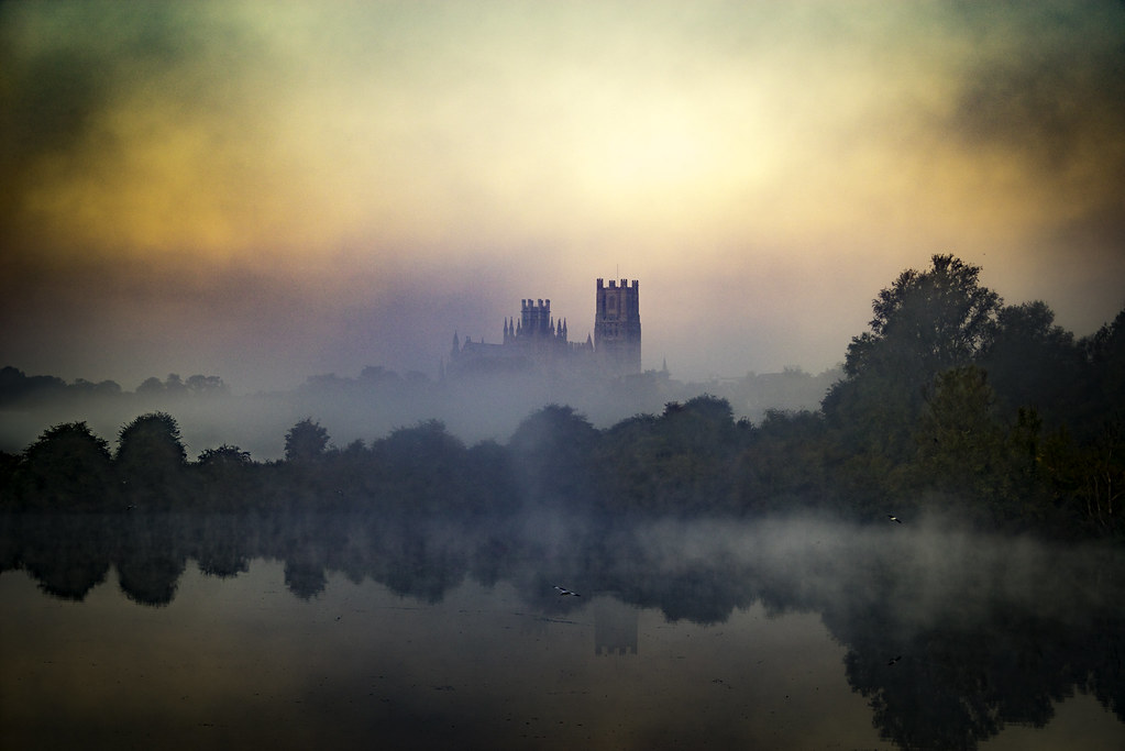 Ely Cathedral, from Roswell Lakes