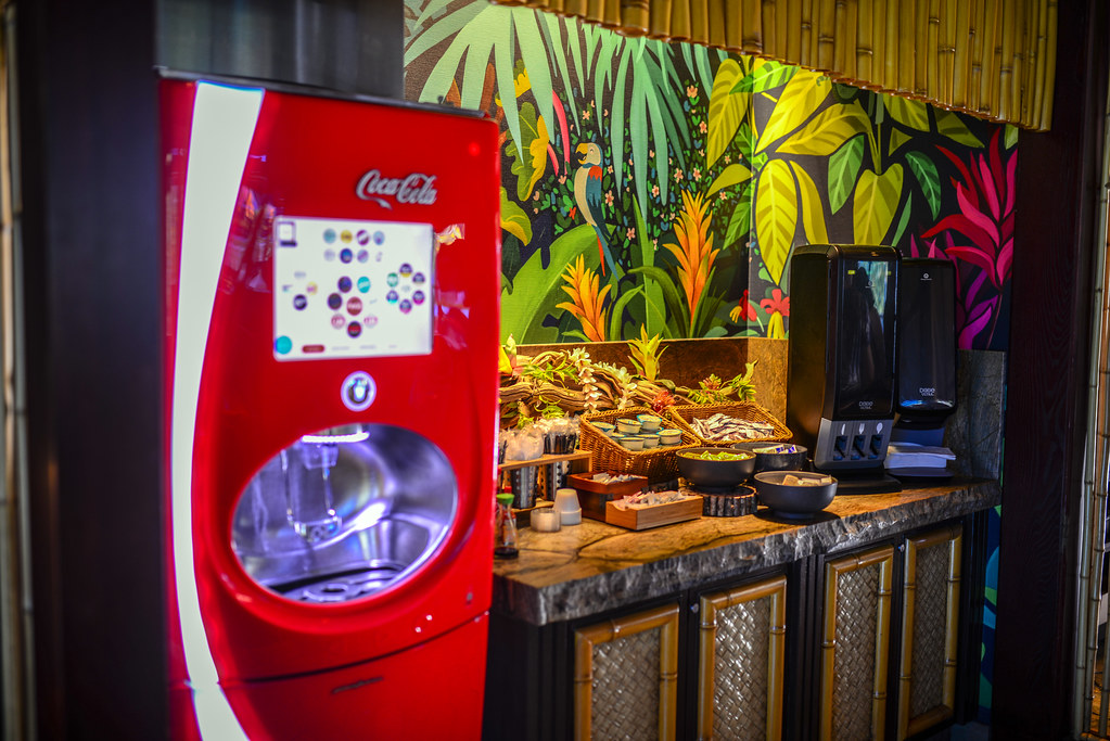Coke machine Tangaroa Terrace