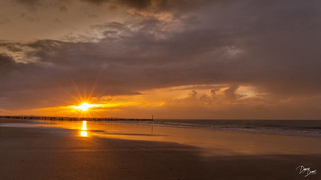 sunset Cadzand