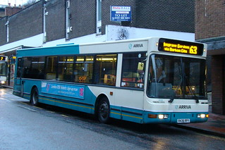 Arriva North East 4036 R436RPY is seen in Durham on 8 January 2011.