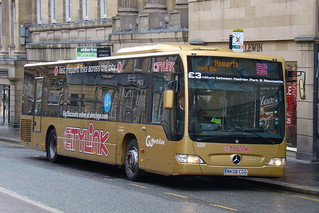 Go North East 5291 NK08CGG is seen in Newcastle on 8 January 2011.