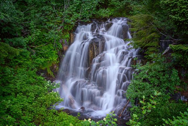 Fall Creek Falls on Stevens Canyon Road in Mt. Rainier National Park, Washington State
