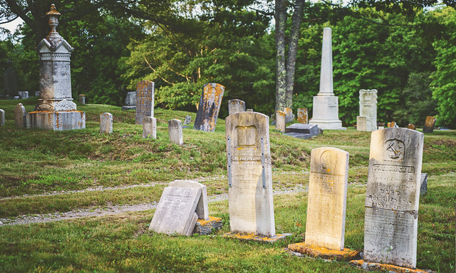 The Hart graves across the street from us in Seaside Cemetery. They lived in our house back in the 1800s | Tenants Harbor Maine