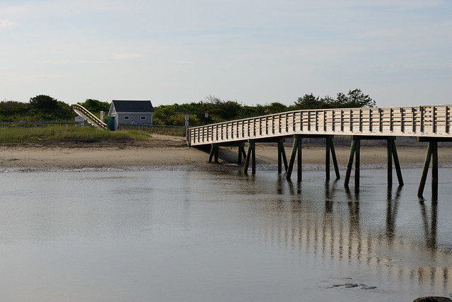 Early Morning. Bridge to the Beach. Maine