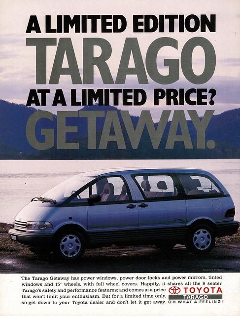 1992 Toyota Tarago Limited Edition Wagon Aussie Original Magazine Advertisement