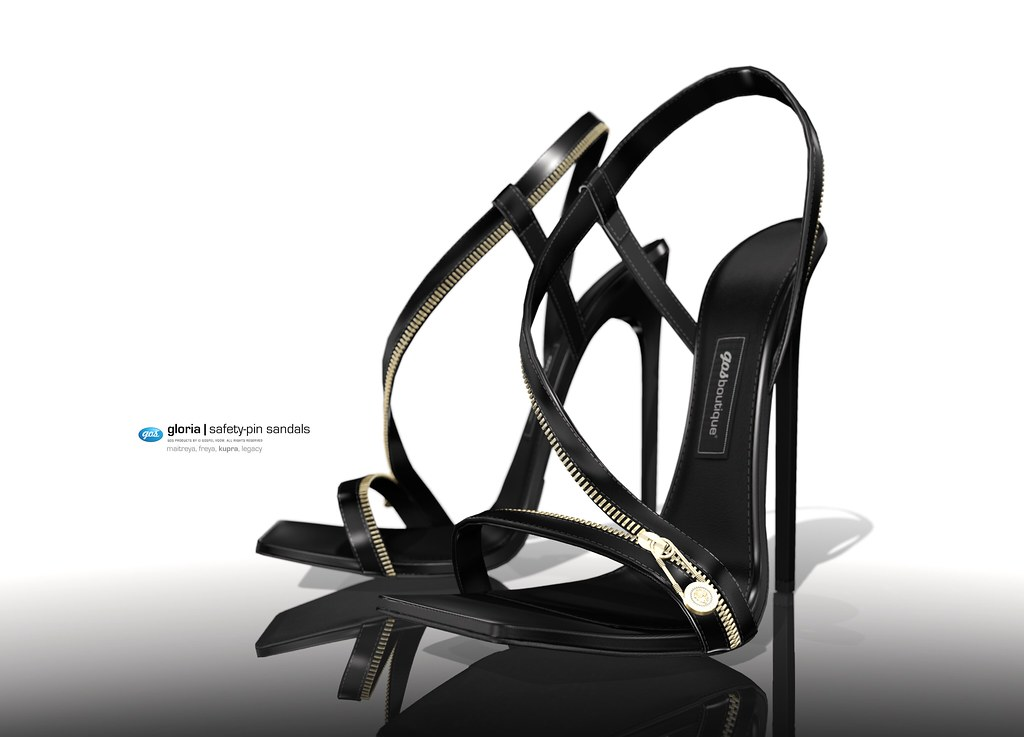 Gloria Safety-Pin Sandals