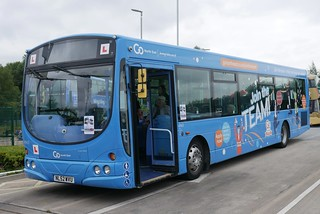 Go North East Scania L94UB Wright Solar NL52WVU 4963, in Join the Team training bus livery, at Riverside Depot Open day on 25 July 2021.
