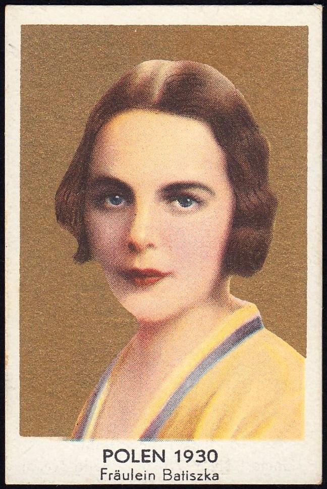 German Cigarette Card - Miss Poland 1930