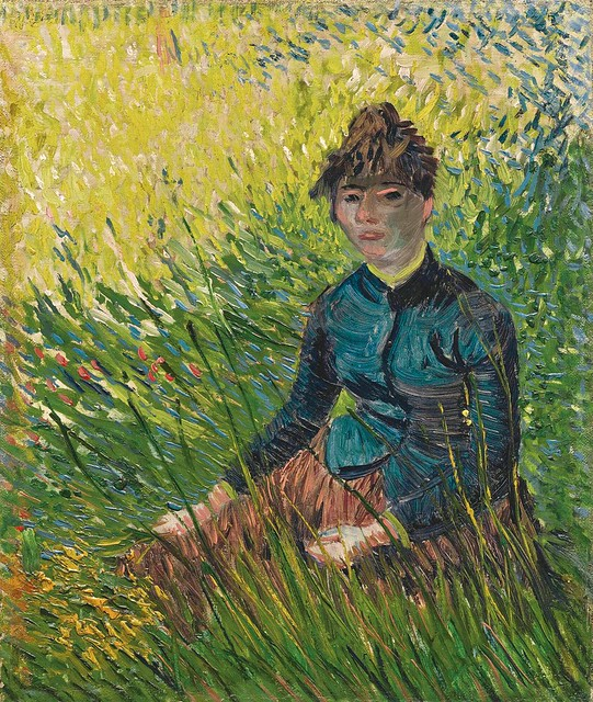 Vincent van Gogh - Woman in a Wheat Field [1887]
