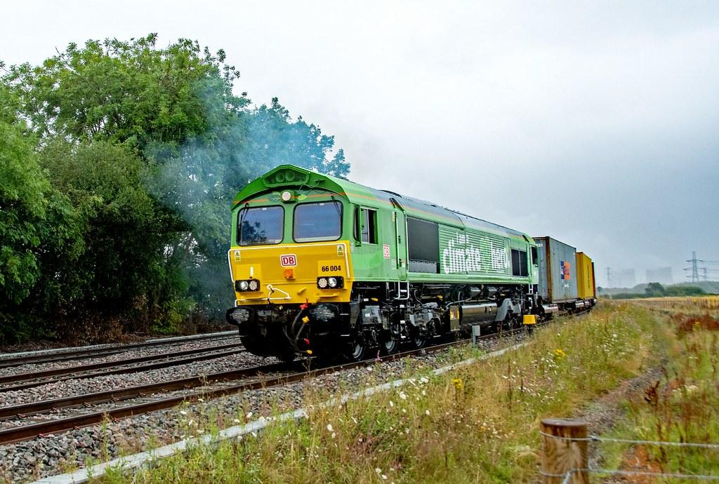 66004 Departs East Midlands Gateway to run around at Castle Donnington. Hemington 30.07.21