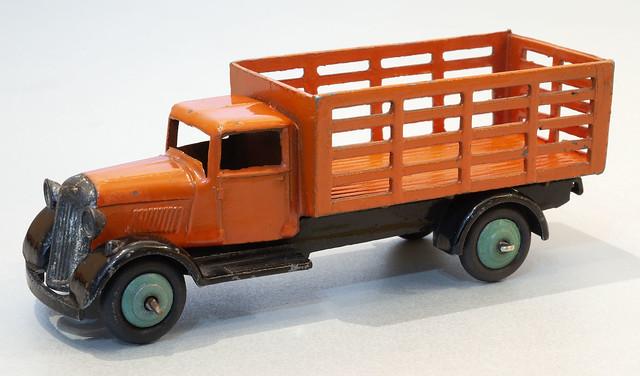 Dinky Toys No. 25f Market Gardener's Van. Orange with Green Wheels