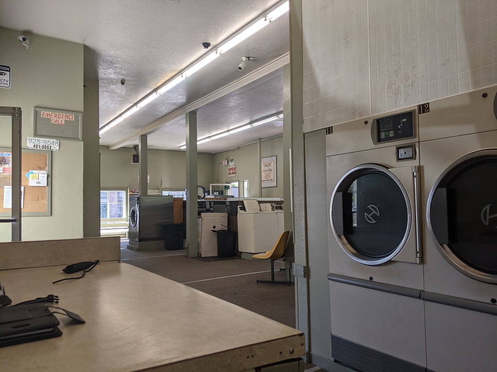 Laundry in Port Angeles. Throwback to the affordable 1970s.
