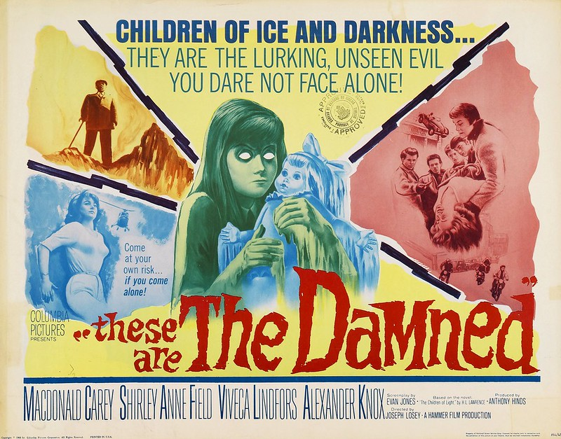 Les Damnés (The Damned / These are the Damned, Joseph Losey, 1963) US poster
