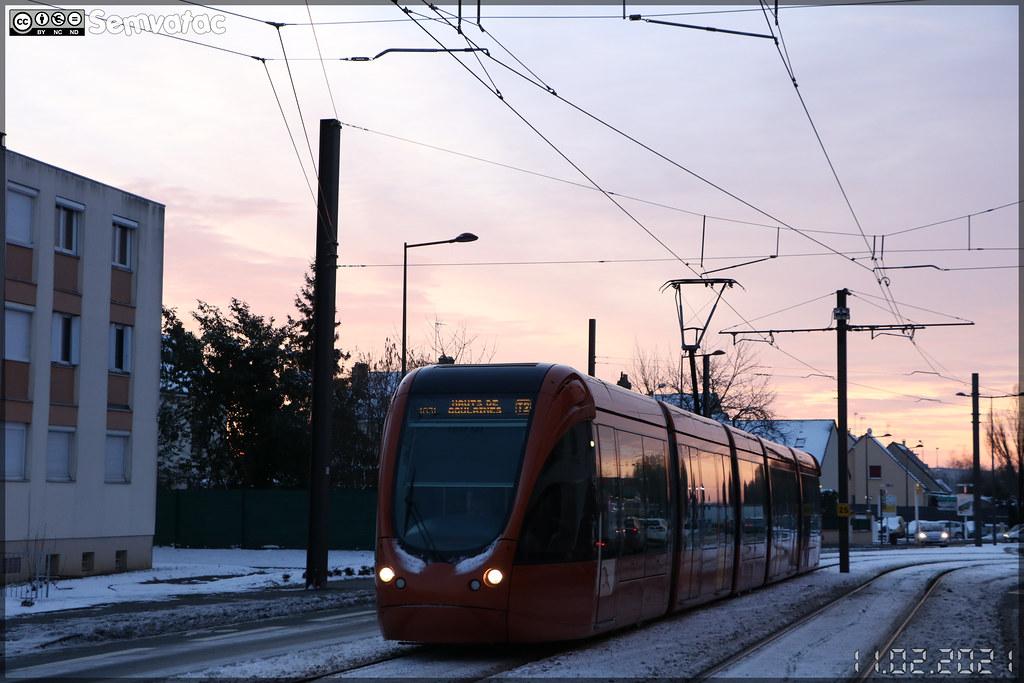 Alstom Citadis 302 – Setram (Société d'Économie Mixte des TRansports en commun de l'Agglomération Mancelle) n°1031 (Fay)