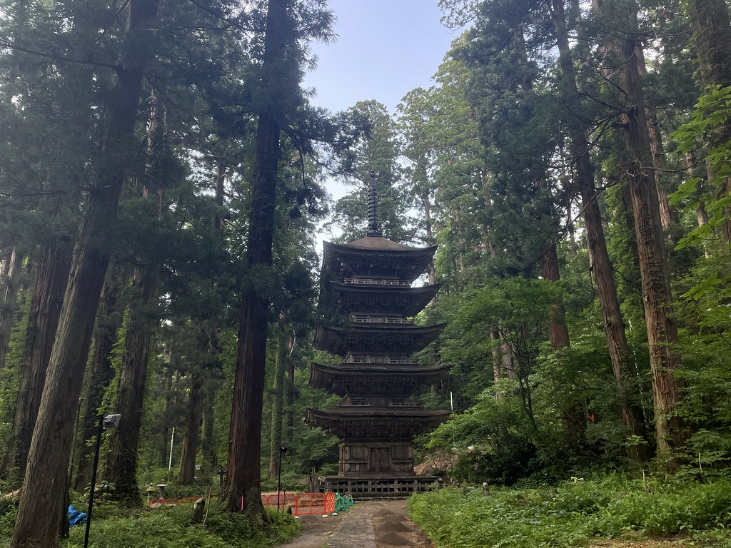 Five Pagoda Tower in Mt. Haguro