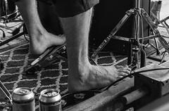 Barefoot drummer