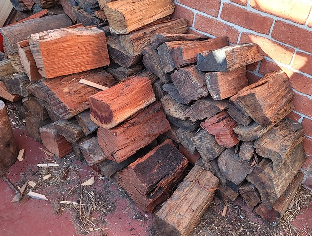 Wood ready for the fireplace