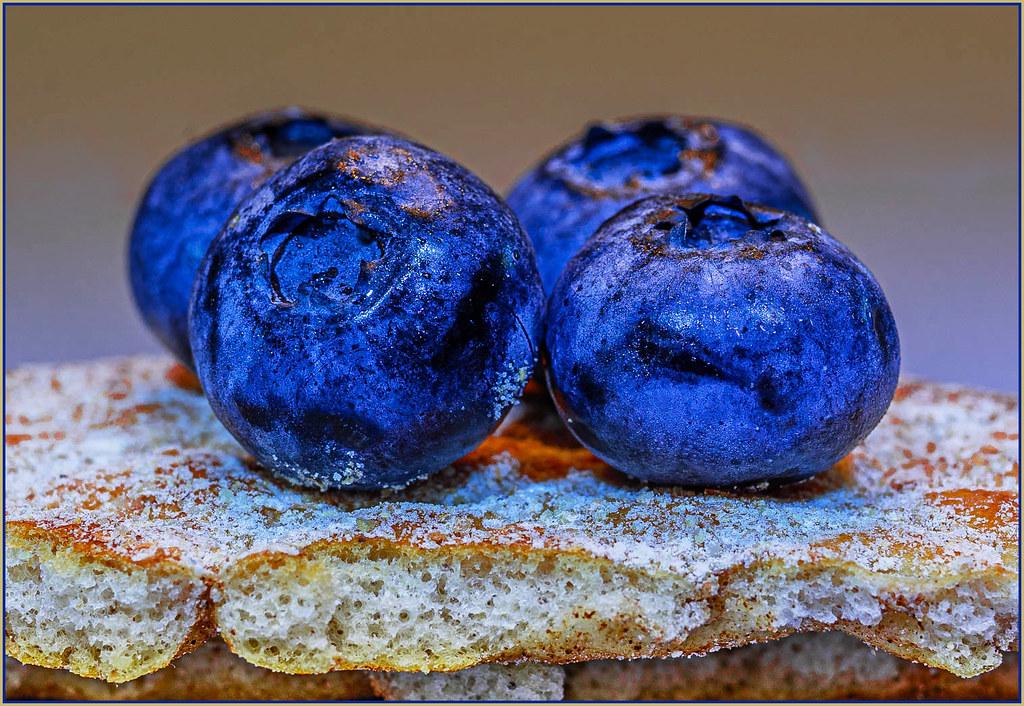 Crispbread with blueberries