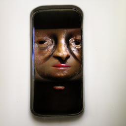 'a surrealist sculpture of an android' CLIP Guided Diffusion Text-to-Image