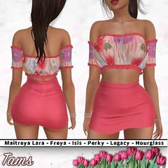 Tams - Peasant Top and High Waisted Skirt - Cinny