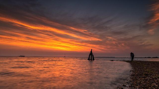 Me shooting sunrise, photo by Jaco