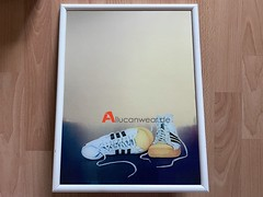 VINTAGE SCANDECOR WALL MIRROR WITH ADIDAS SUPERSTAR PICTURE