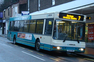 Arriva North East 4041 S341KHN is seen in Durham on 8 January 2011.