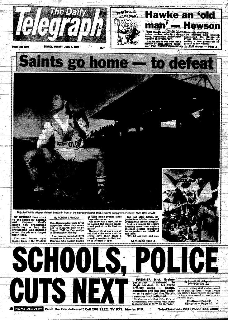St George Return to Kogarah Ovel June 4 1990 daily telegraph 1-2 (1)