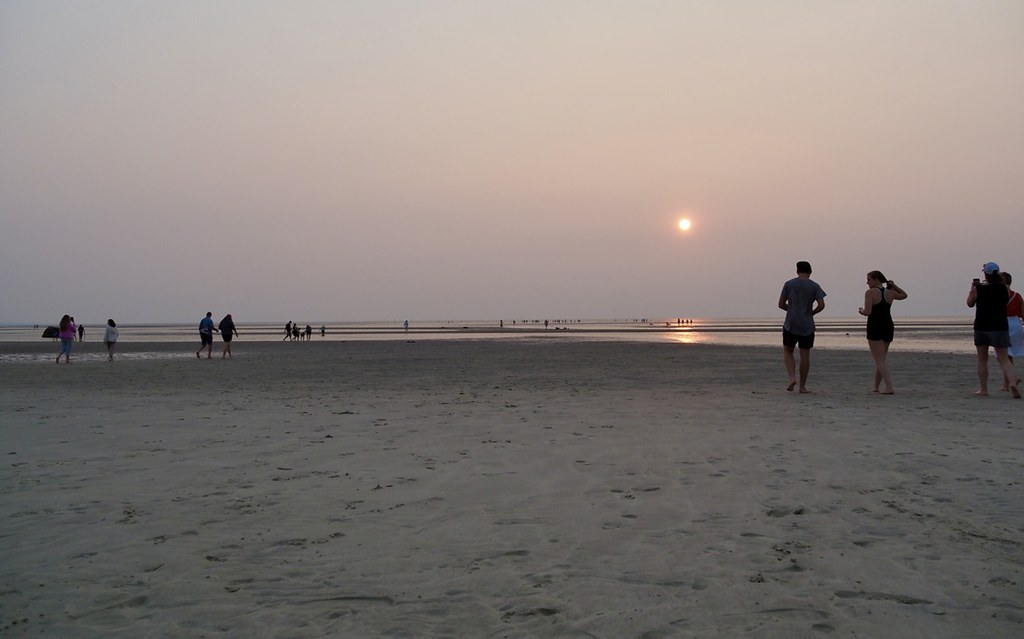 Marching into the hazy sunset, Cape Cod, MA