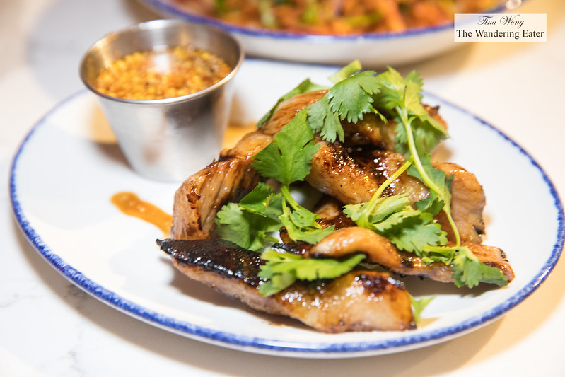 Pork toro - grilled fatty pork jowl with 'jaew' northeastern chili dip