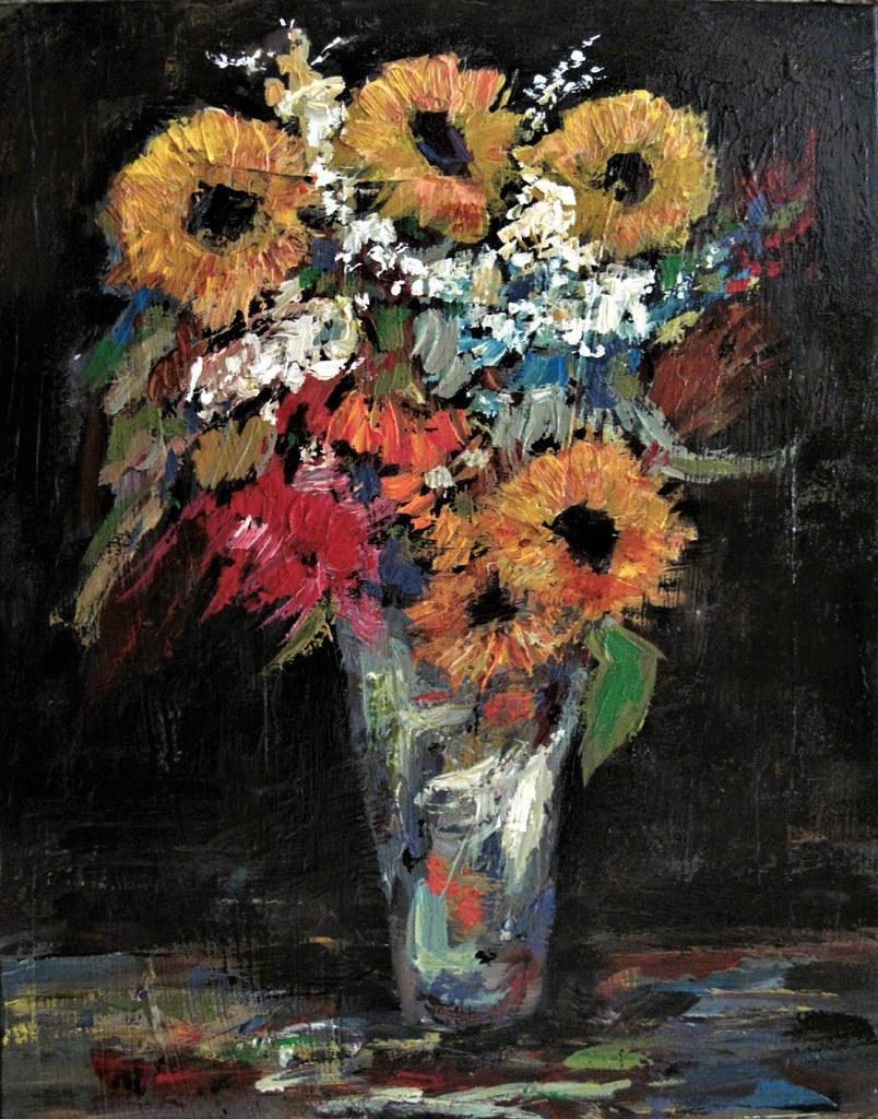 Flowers On A Dark Background.