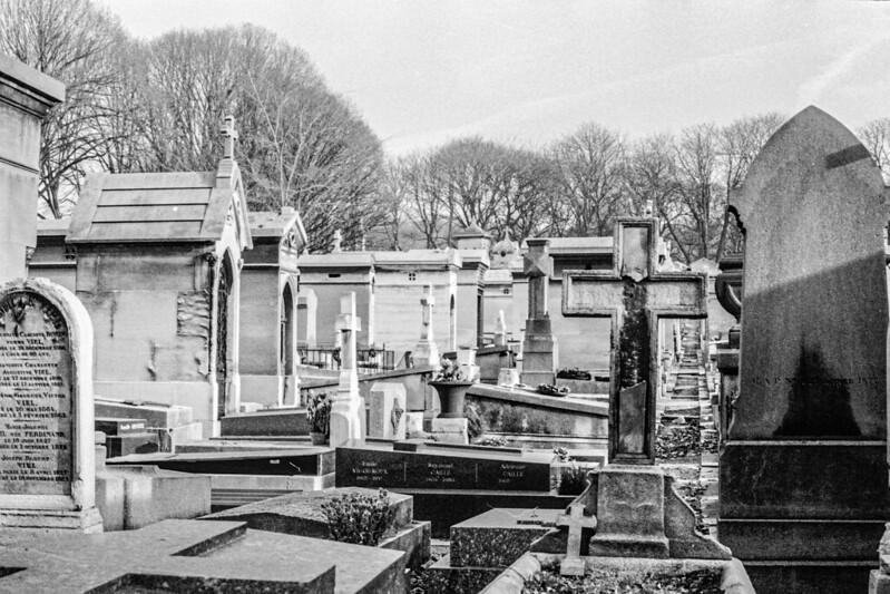 Pariser Friedhof Père Lachaise 1981