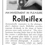 Sun, 1935-09-01 00:00 - I believe it's this camera, introducing the crank film advance which would be standard on Rolleiflexes until the series finally fizzled out 80 years later. And as you see, it's bathing-beauty approved.