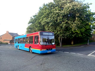 A Line Coaches 4922 EX Go North East on the X30 to Stanley