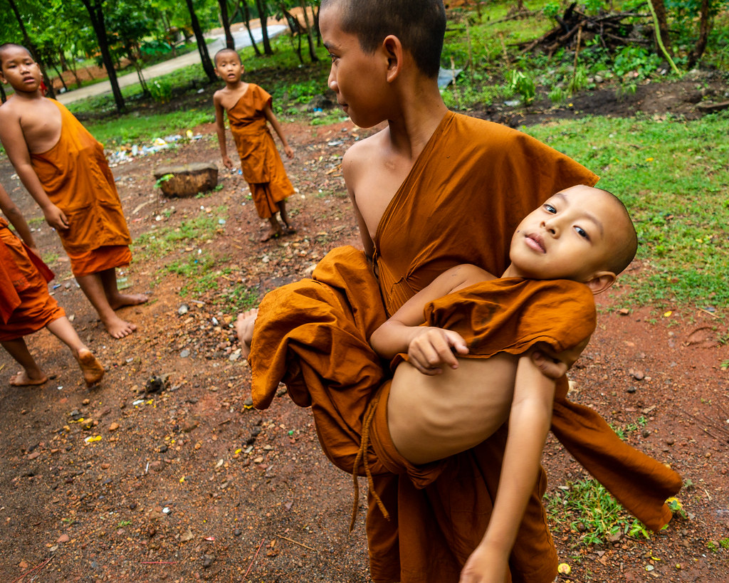 Novice Monks Playing Around