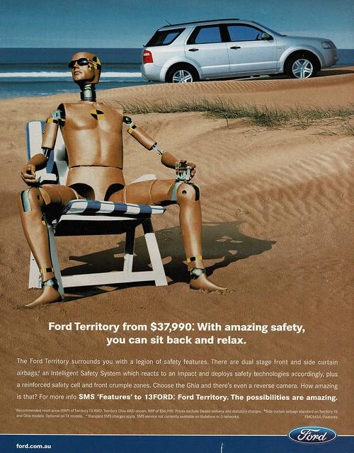 2008 Ford Territory Wagon Aussie Original Magazine Advertisement