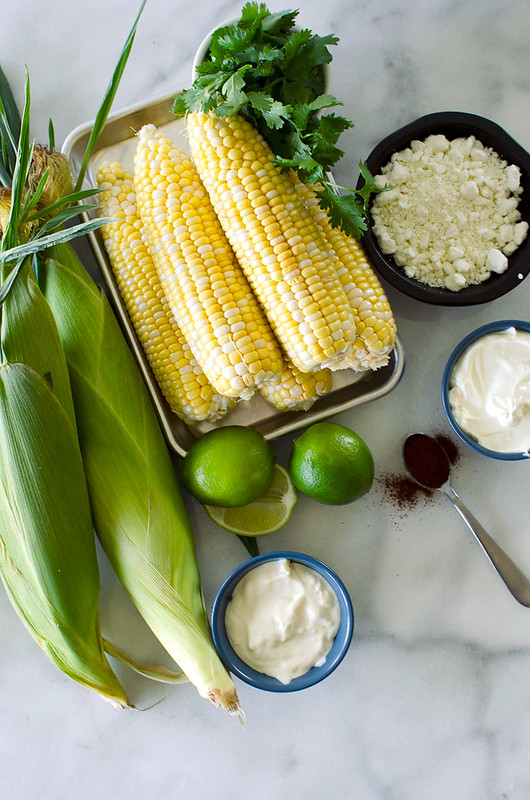 Elotes - Grilled Mexican Street Corn {gluten-free with dairy-free option}