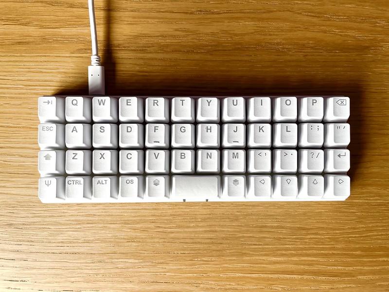Overhead view of keyboard
