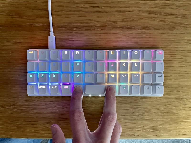 Adjust layer backlighting