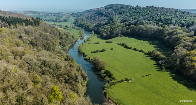 The superb countryside through which the River Wye flows, Gloucestershire/Herefordshire border, England.
