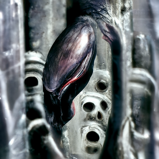 'h r giger' CLIP Guided Diffusion v2 Text-to-Image