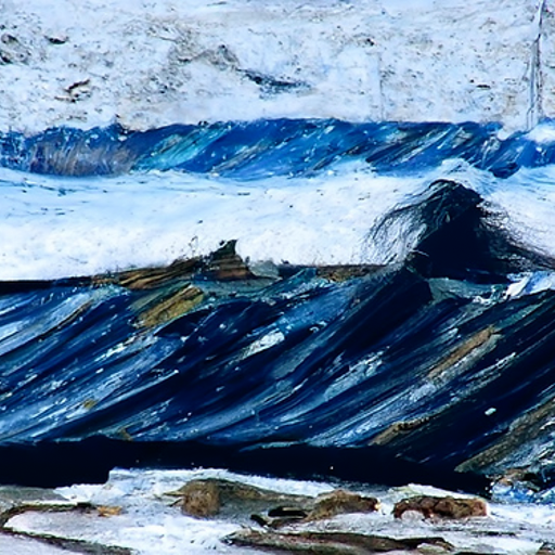 'a rough seascape' CLIP Guided Diffusion v2 Text-to-Image